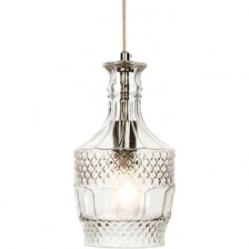 Firstlight 3449CH Decanter 1 Light Pendant Polished Chrome