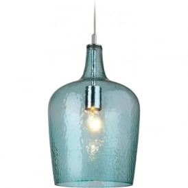 Firstlight 2301AQ Glass 1 Light Pendant Aqua