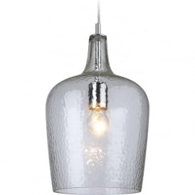 Firstlight 2301CL Glass 1 Light Pendant Aqua