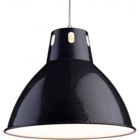 Firstlight 3477CF Racing 1 Light Ceiling Pendant Carbon Fibre