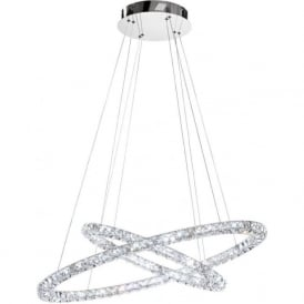 Eglo 93946 Toneria LED Crystal Ceiling Pendant Polished Chrome