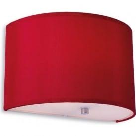 Firstlight 8631REWH Zeta Wall Light Red