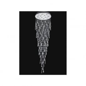 Franklite FL2320/12 Shimmer 12 Light Ceiling Light Chrome