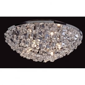 Firstlight 8252CH Gemma 4 Light Flush Ceiling Light Polished Chrome