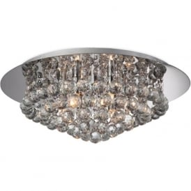 Firstlight 8314CH Liberty 6 Light Flush Ceiling Light Polished Chrome