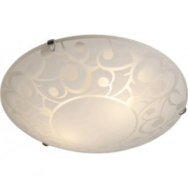 Firstlight CF11 Coral 2 Light Flush Ceiling Light Opal