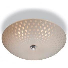 Firstlight 8316 Celine 3 Light Flush Ceiling Light Opal