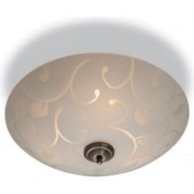 Firstlight 8317 Sadie 3 Light Flush Ceiling Light Opal