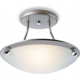 Firstlight S300SS Champagne Semi-Flush Ceiling Light Satin Steel