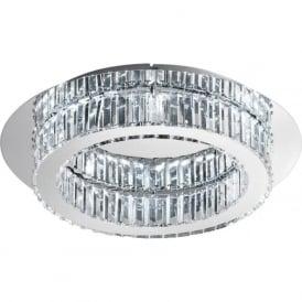 Eglo 39015 Corliano LED Flush Ceiling Light Polished Chrome
