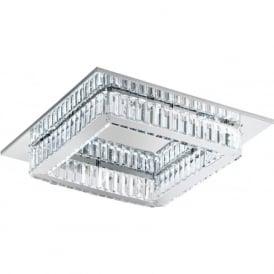 Eglo 39016 Corliano LED Flush Ceiling Light Polished Chrome