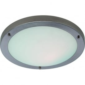 Firstlight 2740BS Rondo Flush Ceiling Light Brushed Steel