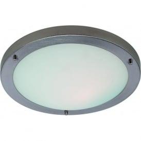 Firstlight 2740BS Rondo Flush Ceiling Light Brushed Steel