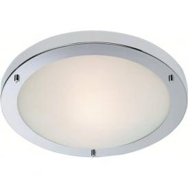 Firstlight 2740CH Rondo Flush Ceiling Light Polished Chrome