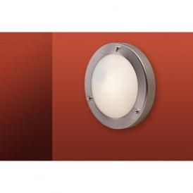 Firstlight 2745BS Rondo Flush Ceiling Fitting & Wall Light Brushed Steel