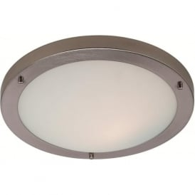 Firstlight 8611BS Rondo LED Flush Ceiling Light Brushed Steel