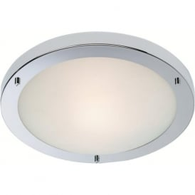 Firstlight 8611CH Rondo LED Flush Ceiling Light Polished Chrome