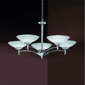 FL2006/5 Fizz 5 Light Ceiling Light Chrome