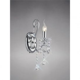 Diyas IL31361 Vela 1 Light Switched Wall Light Polished Chrome
