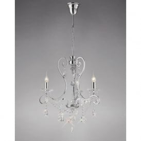 Diyas IL31363 Vela 3 Light Crystal Ceiling Light Polished Chrome