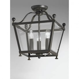LA7004/3 Atrio 3 Light Ceiling Lantern Antique Bronze