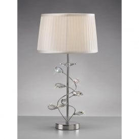 Diyas IL31210 Willow Crystal Table Lamp Polished Chrome