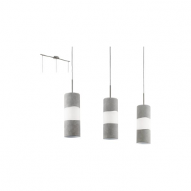 Eglo 95616 Lagonia 3 Light Ceiling Pendant Satin Nickel