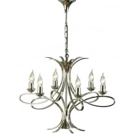 Interiors CA7P6N Penn 6 Light Ceiling Pendant Polished Nickel