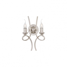 Interiors CA7W2N Penn 2 Light Wall Light Polished Nickel
