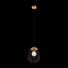 Eglo 49606 Loggans1 1 Light Ceiling Pendant Copper