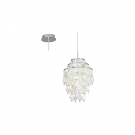 Eglo 90032 Chipsy 1 Light Ceiling Pendant Chrome