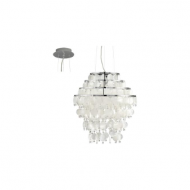 Eglo 90033 Chipsy 3 Light Ceiling Pendant Chrome
