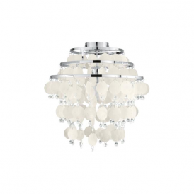Eglo 90221 Chipsy 1 Light Flushed Ceiling Light Chrome