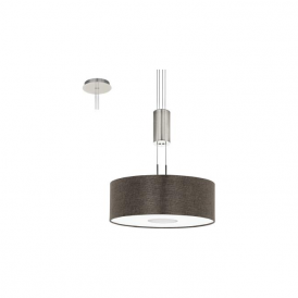 Eglo 95338 Romao 2 15 Light Ceiling Light Chrome/Satin Nickel