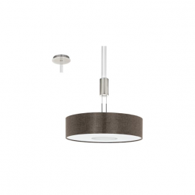 Eglo 95339 Romao 2 1 Light Ceiling Light Chrome/Satin Nickel