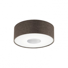 Eglo 95336 Romao 2 15 Light Flushed Ceiling Light Chrome/Satin Nickel
