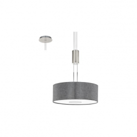 Eglo 95347 Romao 15 Light Ceiling Light Chrome/Satin Nickel