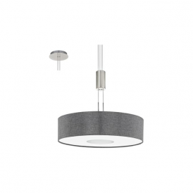 Eglo 95348 Romao 1 Light Ceiling Light Chrome/Satin Nickel