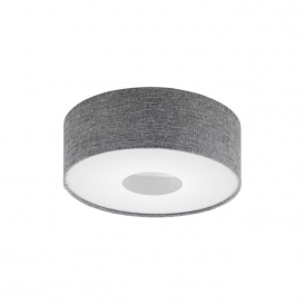 Eglo 95345 Romao 15 Light Flushed Ceiling Light Chrome/Satin Nickel