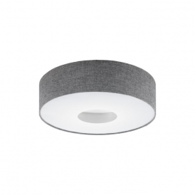 Eglo 95346 Romao 1 Light Flushed Ceiling Light Chrome/Satin Nickel