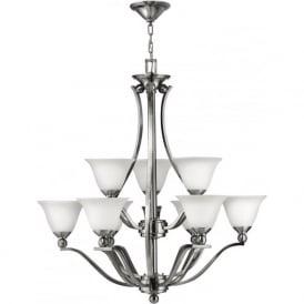 Elstead Hinkley HK/BOLLA9 Bolla 9 Light Ceiling Light Brushed Nickel