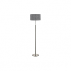 Eglo 95353 Romao 1 Light Floor Lamp Chrome/Satin Nickel