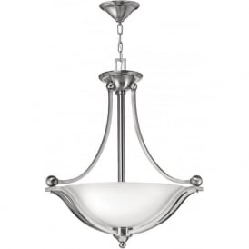 Elstead Hinkley HK/BOLLA/P/A Bolla 3 Light Ceiling Pendant Brushed Nickel