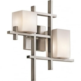 Elstead Kichler KL/CITYLIGHTS2 City Lights 2 Light Wall Light Pewter