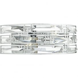 Dar SEV0950 Seville 2 Light Switched Wall Light Polished Chrome
