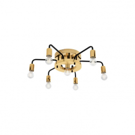 Eglo 95215 Paltas 7 Light Flushed Ceiling Light Gold