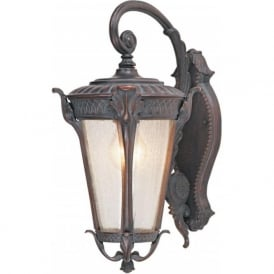 Searchlight 4283BR Canada 1 Light Outdoor Wall Light Weathered Brown IP44