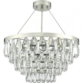 Dar SCE0350 Sceptre 3 Light Ceiling Pendant Polished Chrome