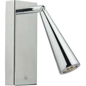 Dar HAG7150 Hagen 1 Light LED Switched Wall Light Polished Chrome