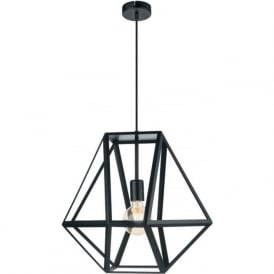 Eglo 49756 Embleton 1 Light Ceiling Pendant Black